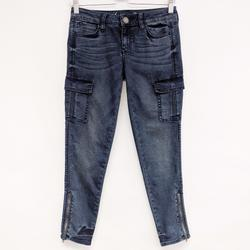 American Eagle Outfitters Jeans | American Eagle | Stretch Cargo Denim Jegging Jeans | Color: Blue/Red | Size: 2