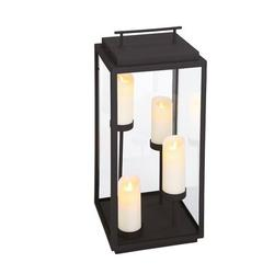 Eurofase Cathedral Battery Powered LED Outdoor Lantern Electric Candle in Black, Size 28.0 H x 12.0 W x 12.0 D in | Wayfair 35979-012