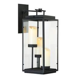 Eurofase Cathedral Battery Powered LED Outdoor Lantern Electric Candle in Black, Size 21.62 H x 9.0 W x 9.0 D in   Wayfair 35978-015