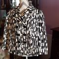 Michael Kors Jackets & Coats | Ladies Black And White Patterned Michael Kors Jack | Color: Black/White | Size: L