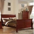 Louis Philippe III California King Bed in Cherry - Acme Furniture 19514CK