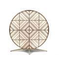 BABU-Lampe à poser d'extérieur LED en textile tribal Ø70cm Noir Contardi