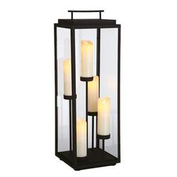 Eurofase Cathedral Battery Powered LED Outdoor Lantern Electric Candle in Black, Size 36.0 H x 12.0 W x 12.0 D in | Wayfair 35980-018