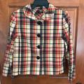 J. Crew Jackets & Coats | J.Crew Plaid Cotton Swing Jacket, Size 8 | Color: Blue/Red | Size: 8