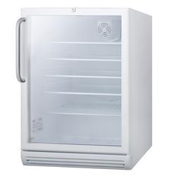 "Summit SCR600GLTBADA 24"" W Undercounter Refrigerator w/ (1) Section & (1) Door, 115v"