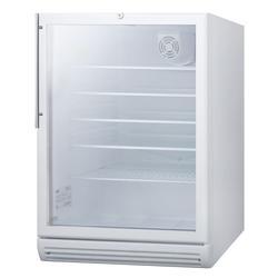 """Summit SCR600GLBIHVADA 24"""" W Undercounter Refrigerator w/ (1) Section & (1) Door, 115v"""
