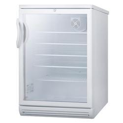 """Summit SCR600GLBIADA 24"""" W Undercounter Refrigerator w/ (1) Section & (1) Door, 115v"""