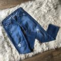J. Crew Jeans   J. Crew Vintage Matchstick Distressed Denim Jeans   Color: Blue/White   Size: 27