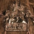 Nike Other | Nike Silver Foil Windbreaker & Shorts Set | Color: Silver | Size: Os