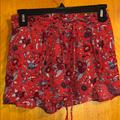 American Eagle Outfitters Shorts | American Eagle Elastic Waist Floral Flowy Shorts | Color: Blue/Red | Size: Xsj