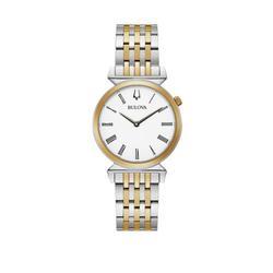 Bulova Two Tone Women's Regatta 2 Tone Stainless Steel Bracelet Watch