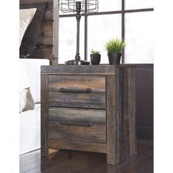Signature Design Drystan Two Drawer Night Stand - Ashley Furniture B211-92