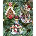 G. DeBrekht Ornaments - Brown & White Snowman & Gingerbread Ornament Set