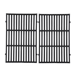 """GasSaf 19.5 inch Grill Grates Replacement for Weber 7524, 7528, Genesis 300 E310 E320 E330 S310 S320 S330 EP310 EP320 EP330 Gas Grill, Set of 2 Cast Iron Cooking Grid Grates(19.5"""" x 12.9"""" x 0.5"""")"""
