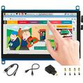 7inch HDMI LCD 1024x600 IPS Capacitive Touch Screen,HDMI/VGA Display Interface Support All Version Raspberry Pi 4B/3B+/3B/2B/Zero/Zero W/Zero WH,Jetson Nano BB Black Banana Pi Windows 10/8.1/8/7