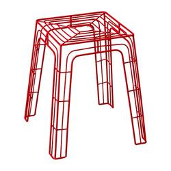 Emissary Home & Garden 2230RD Stool, red