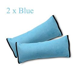 Seatbelt Pillow,MASO 2Pcs Car Seat Belt Covers for Kids, Adjust Vehicle Seat Belt Protector Cushion Shoulder Pads, Plush Soft Auto Seat Belt Strap Cover Headrest Neck Support for Children Baby (Blue)