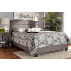 Baxton Studio Ansa Modern & Contemporary Grey Fabric Upholstered King Size Bed - CF9084C-Grey-King