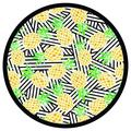 Dohler Pineapples Round 100% Cotton Beach Towel Terry Cloth/100% Cotton in Black/Green/Yellow   Wayfair 17283-21814-0530