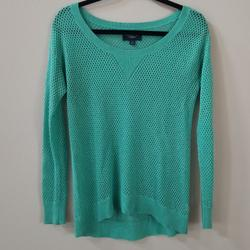 American Eagle Outfitters Sweaters   American Eagle Outfitters   Open Knit Sweater   Color: Green   Size: Xs
