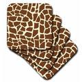 World Menagerie Giraffe Skin Graphic Animal Print Pattern Ceramic Tile Coaster Ceramic in Brown, Size 0.25 H x 4.25 D in | Wayfair
