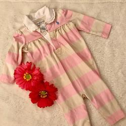 Ralph Lauren Shirts & Tops | Lovely Ralph Lauren Romper | Color: Pink | Size: 3-6mb