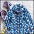 Nine West Jackets & Coats | Euc Vintage Nine West Coat | Color: Blue/White | Size: Xs