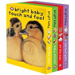 Bright Baby Touch & Feel Boxed Set: On the Farm, Baby Animals, At the Zoo and Perfect Pets (Bright Baby Touch and Feel)