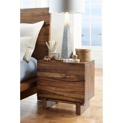 Ocean Two Drawer Solid Wood Nightstand in Natural Sengon - Modus 8C7981