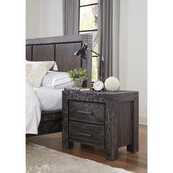 Meadow Solid Wood Two Drawer Nightstand in Graphite - Modus 3FT381