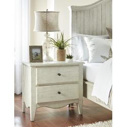 Ella Solid Wood Two Drawer Nightstand in White Wash - Modus 2G43812