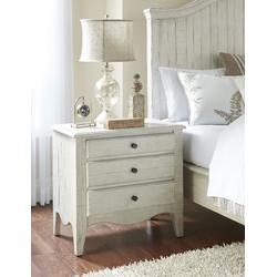 Ella Solid Wood Three Drawer Nightstand in White Wash - Modus 2G4381