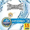 Wilkinson Hydro 3 - Lames de Rasoir pour Homme - Pack de 15
