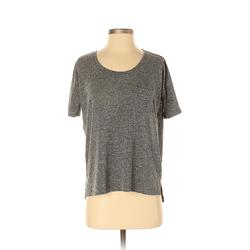 Old Navy Short Sleeve T-Shirt: Gray Solid Tops - Size X-Small