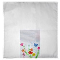 Highland Dunes Schiff Pastel Garden Hand Towel Polyester in White, Size 0.0625 H in   Wayfair A1FC7C3EB6F34BEAB83726E94B2F94DE