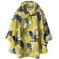Kids Rain Poncho Jacket Waterproof Outwear Raincoat Lightweight,Yellow Cloud,M