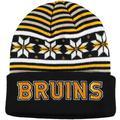 Men's adidas Black Boston Bruins Culture Head Logo Cuffed Knit Hat