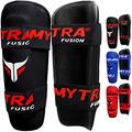Mytra Fusion shin pad Shin Guard Shin Protector for Training Protection & Workout (Black, L/XL)