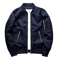 TOTNMC Men's Windbreaker Jackets Lightweight Waterproof Jacket Men Athletic Fit Jacket Full-Zip Bomber Jacket for Men