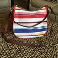 Kate Spade Bags   Kate Spade Bag. Fabric (Striped) And Leather.   Color: Pink/Red   Size: 12 X 10 X 4 12