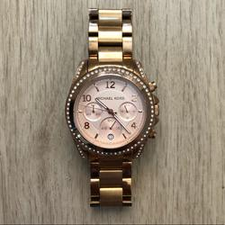 Michael Kors Jewelry   Michael Kors Studded Rose Gold Watch   Color: Gold/Pink   Size: Os