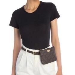 Michael Kors Accessories   Michael Kors Mk Logo Brown Fanny Pack Belt Bag   Color: Brown/Tan   Size: L