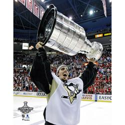 Marc-Andre Fleury Pittsburgh Penguins Unsigned 2009 Stanley Cup Champions Raising Photograph