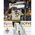 Marc-Andre Fleury Pittsburgh Penguins Unsigned 2017 Stanley Cup Champions Raising Photograph