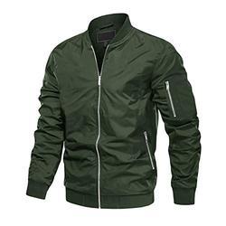 MAGCOMSEN Bomber Jacket Men Spring Jackets for Men Windbreaker Fall Jacket Men Military Jacket Combat Jacket Windbreaker Jackets for Men Green