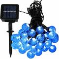 """Sol 72 Outdoor™ Wiltshire 20' Outdoor LED Solar Powered 30 - Bulb Globe String Light Bulb in Blue, Size 240""""D 