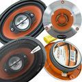 """Pair of Audiobank 6x9 1000 Watt 4-Way Car Speakers + Pair of 3.75"""" Super Bullet Tweeters"""