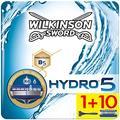 Wilkinson Sword Wilkinson Sword Ffp Box Hydro 5 Kit de rasoir 5 lames pour homme + 11 lames de rechange 150 g