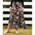 Beyond This Plane Women's Maxi Skirts pink - Black & Pink Floral Maxi Skirt - Women & Plus