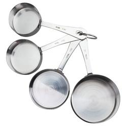 Oneida 4-Pieces Stainless Steel Measuring Cup Set Stainless Steel in Gray, Size 8.5 H x 3.5 W x 2.5 D in | Wayfair 54208